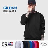 大學T JerryShop【GGD8800】 美國Gildan 88000亞規刷毛大學T恤 (6色)情侶 圓領 素面長T