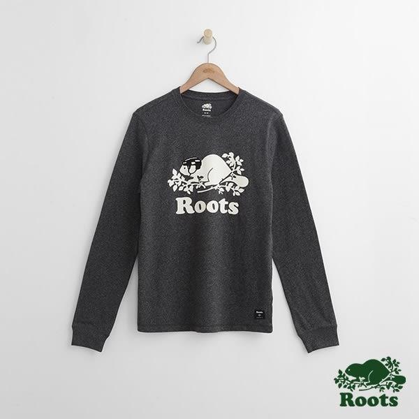 Roots-男裝-ROOTS 庫柏曲棍球長袖T恤 - 黑色