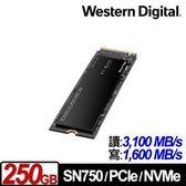 【綠蔭-免運】WD 黑標 SN750 250GB NVMe PCIe SSD固態硬碟