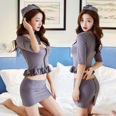 情趣內衣服性感緊身包臀短裙騷OL職業秘書裝女空姐制服激情套裝cr
