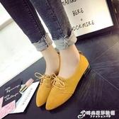 英倫鞋 新款樂福鞋女平底復古絨面方頭穆勒英倫風單鞋懶人一腳蹬 時尚芭莎