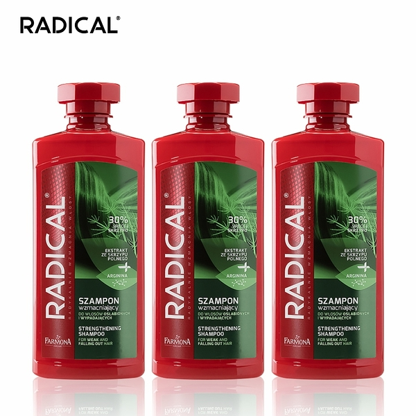 RADICAL - 調理洗髮露 400ml (3入組) (共6款) 馬尾草/菩提樹花/銀杏/小麥籽粒/白柳/鼠尾草