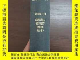 二手書博民逛書店CHEMICAL罕見ABSTRACTS Vol.114 GENERAL SUBJECT INDEX(A-E)Y