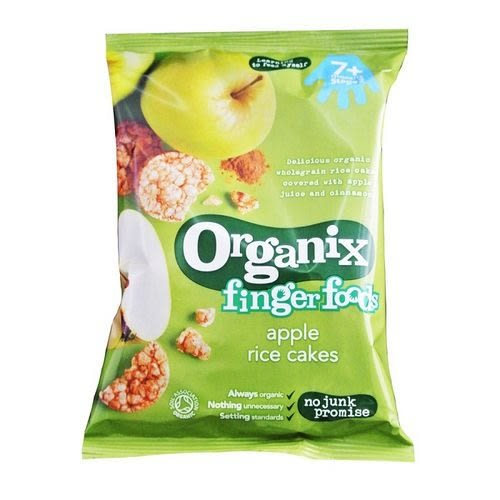 英國 Organix 歐佳有機寶寶蘋果米餅(七個月)
