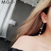 耳墜 韓版簡約流蘇百搭氣質個性耳環