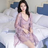 性感睡衣女蕾絲薄紗內衣露背吊帶透明情趣睡裙 ☸mousika