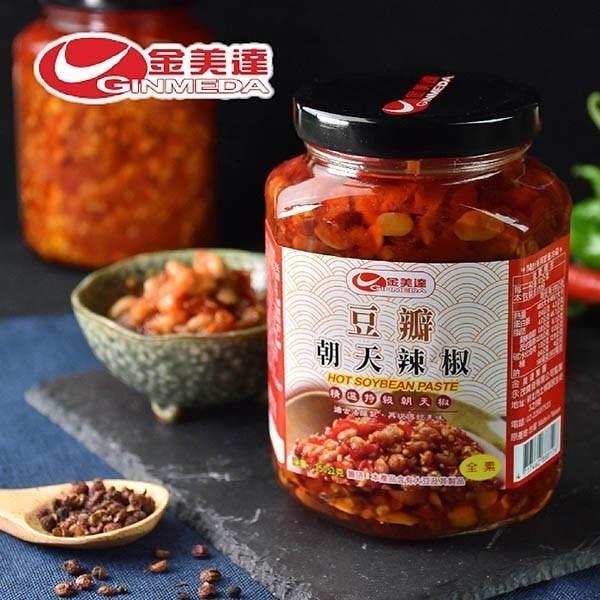 【南紡購物中心】金美達.豆瓣朝天辣椒(350g)(2罐)