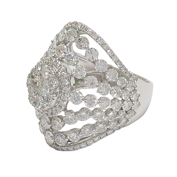 JEWELRY 鑲4.84克拉鑽造型18K白金戒指 【BRAND OFF】