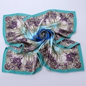 桑蠶絲圍巾-古典優雅獨特大方女絲巾4色73hx30【時尚巴黎】