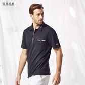 【ST.MALO】台灣製POLO衫高機能咖啡紗男POLO衫-1814MP-釉彩黑