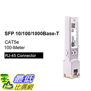 [8美國直購] 收發器模組 10/100/1000BASE-T SFP Transceiver, Gigabit RJ45 Auto-Negotiation Data Rate Mini-GBIC Copper