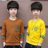 限時8折秒殺男童裝長袖t恤上衣新款春秋裝韓版兒童大童體恤男孩打底衫潮