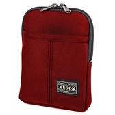 YESON - 18型防撥水多功能腰包二色可選 MG-588紅色系