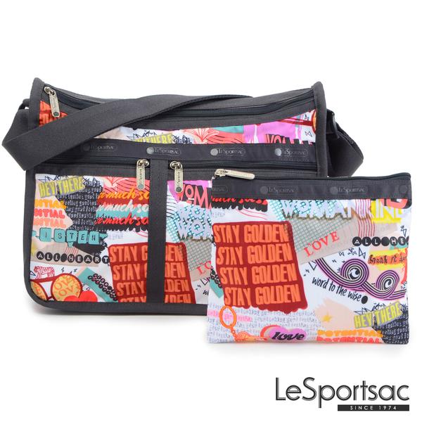 LeSportsac - Standard雙口袋A4大書包-附化妝包 (街頭塗鴉) 7507P F543