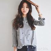 韓版襯衫女寬鬆2021春秋新款女裝精品ol顯瘦棉麻長袖簡約通勤上衣 夏季狂歡