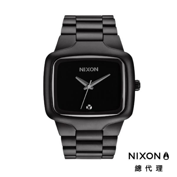 【官方旗艦店】NIXON BIG PLAYER 正裝錶 高階款 消光黑 真鑽 潮人裝備 潮人態度 禮物首選