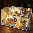 diy小屋 閣樓別墅手工制作小房子模型拼裝創意中國風生日禮物女生【黑色妹妹】