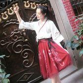 cos服改良漢服女中國風cos服漢元素日常古風裙子學生夏季寬鬆古裝套裝 春生雜貨鋪