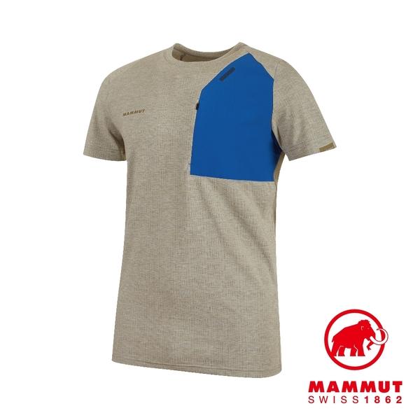 Mammut 長毛象 Crashiano Pocket T-Shirt Men 機能短袖 T-Shirt 男款 橄欖/藍 #1017-00920