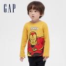 Gap男幼童 Gap x Marvel 漫威系列印花圓領長袖T恤 649639-金黃色