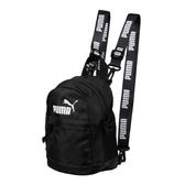 Puma 全黑 女 後背包 運動後背包 兒童包 小包包 雙肩包 小夾層 迷你 背包 07615401