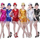 廣場舞服裝新款套裝夏2018跳舞現代舞爵士舞ds演出服女成人舞蹈服