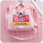 女性側肩包 新款單肩包女包學生斜挎帆布袋潮簡約百搭 珍妮寶貝