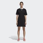 ISNEAKERS ADIDAS ORIGINALS Trefoil Dress 黑白 三葉草 連身裙 洋裝 女款 DH3184