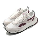 Reebok 休閒鞋 CL Legacy 淺卡其 紅 男鞋 女鞋 Classic Leather 運動鞋 【ACS】 H04996
