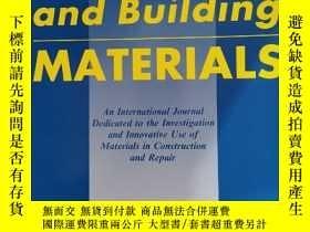 二手書博民逛書店Construction罕見and building materials 2020年1月 英文版 特厚Y424