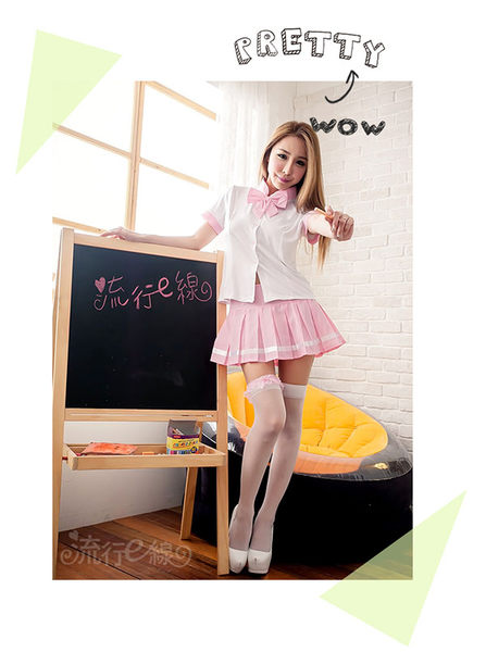 cosplay角色扮演萌系水手服~甜心粉色情趣角色扮演服學生服水手制服~流行E線A695
