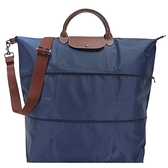 【南紡購物中心】LONGCHAMP LE PLIAGE 延展夾層手提/斜背旅行袋(海軍藍)