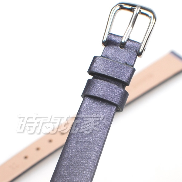 16mm錶帶 髮絲紋 真皮錶帶 寶藍色 錶帶 B16-MA寶藍