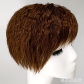 頭頂補髮片遮白髮玉米燙短捲髮隱形仿真髮補髮塊劉海假髮片女 FF3294【男人與流行】