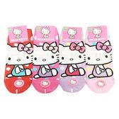 【KP】22-24cm 成人襪 直版襪 三麗鷗 Sanrio Hello Kitty 點點 蝴蝶結 坐著 卡通襪 襪子