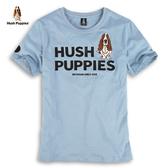 Hush Puppies T恤 男裝立體字母膠印側邊LOGO織帶T恤