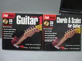 【書寶二手書T7/音樂_MBE】FastTrack Guitar1_Chords&…Guitar_共2本合售_附