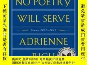 二手書博民逛書店Tonight罕見No Poetry Will Serve: P