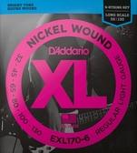 D'Addario EXL170-6貝斯6弦(32-130)兩包裝