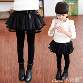 兒童褲裙女童打底褲裙春秋裝新款純棉冬季兒童寶寶加絨網紗裙褲假兩件 限時特惠