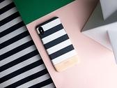 Alto iPhone XR 真皮手機殼背蓋 6.1吋 Denim - 白條紋 【可加購客製雷雕】皮革保護套