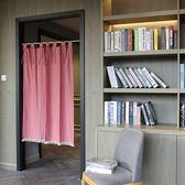 可愛時尚棉麻門簾E426 廚房半簾 咖啡簾 窗幔簾 穿杆簾 風水簾 (120寬*150cm高)