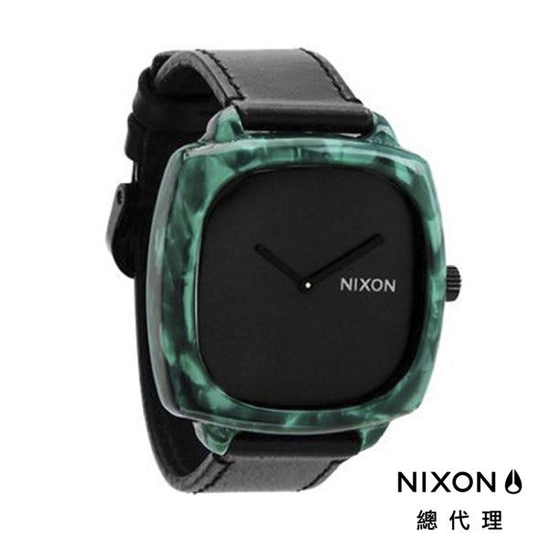 【官方旗艦店】NIXON SHUTTER 正裝皮革 黑綠 潮人裝備 潮人態度 禮物首選