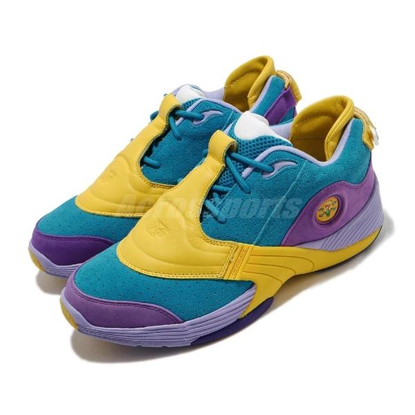 Reebok 籃球鞋 Answer V MU 紫 黃 男鞋 麂皮 戰神 運動鞋 【ACS】 FW7506
