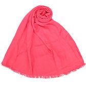 CalvinKlein CK滿版LOGO絲質寬版披肩圍巾(桃紅色)103252-12