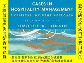 二手書博民逛書店Cases罕見in Hospitality Management: A Critical Incident App