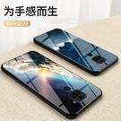 小米 紅米 Note 9 手機殼 軟邊玻璃鏡面星空情侶 超薄全包防摔保護套 冷淡風個性創意潮牌 紅米Note9