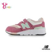 New Balance童鞋 997 nb童鞋 女童運動鞋 寬楦 耐磨 魔鬼氈 女童跑步鞋P8466#粉紅◆OSOME奧森鞋業