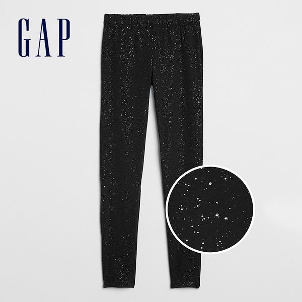 Gap女童 閃耀彈力針織打底褲 384973-純正黑色