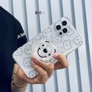 卡通OPPO Find X3 PRO手機套 創意可愛小熊find x3pro手機殼 毆珀Find X3 Pro保護殼 透明支架oppo保護套